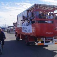 Studenterkørsel i Aalborg og Århus i Jylland